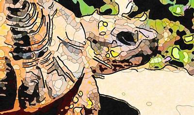 Painting - Giant Tortoise 3 by Jeelan Clark