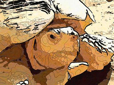Painting - Giant Tortoise 4 by Jeelan Clark