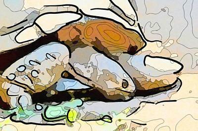 Painting - Giant Tortoise 5 by Jeelan Clark