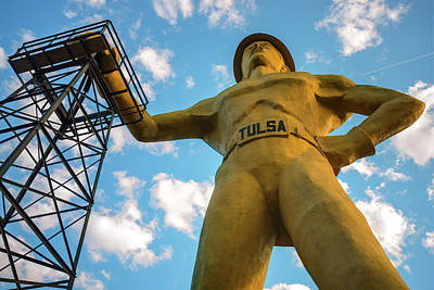 Giant Tulsa Driller Statue - Color Edition Art Print
