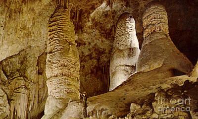 Giant Twin Domes At Carlsbad Caverns  Art Print by Ruth  Housley