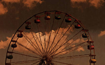 Print featuring the photograph Giant Wheel by David Dehner