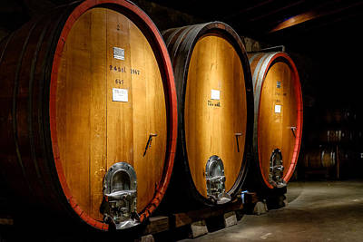 Photograph - Giant Wine Barrels by John McArthur