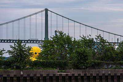 Installation Art Photograph - Giant Yellow Duck Walt Whitman Bridge Philly by Terry DeLuco