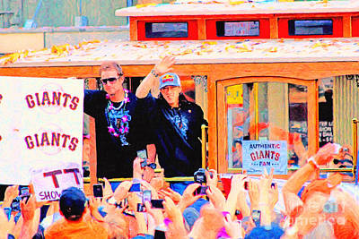 Giants 2010 Champions Parade 2 . Photo Artwork Art Print by Wingsdomain Art and Photography