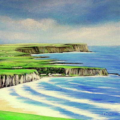 Painting - Giants Causeway Coastal Route, Northern Ireland by K McCoy