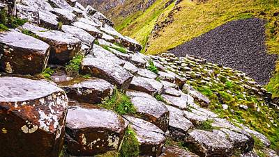 Photograph - Giants Causeway Landscape by Lexa Harpell