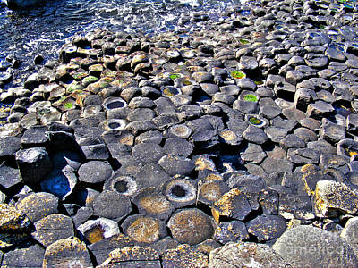 Photograph - Giant's Causeway Stones 3 by Nina Ficur Feenan