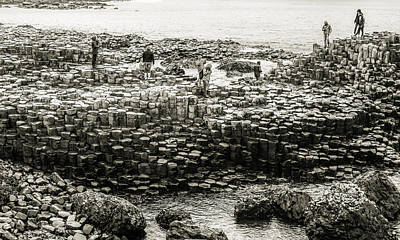 Photograph - Giants Causeway Stones by Lexa Harpell