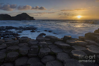 Photograph - Giant's Causeway Sunset by Brian Jannsen