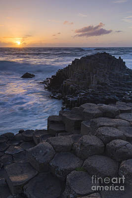 Photograph - Giant's Causeway Sunset II by Brian Jannsen