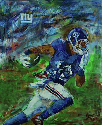 Painting - Ny Giants -  Big Blue by Walter Fahmy