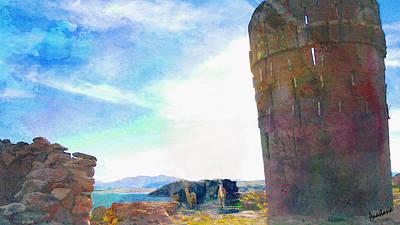 Photograph - Giant's Towers Of Lake Umayo Peru by Anastasia Savage Ealy