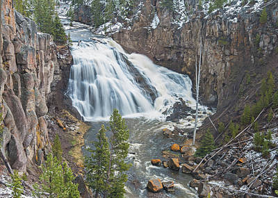 Photograph - Gibbon Falls by Jim Zablotny