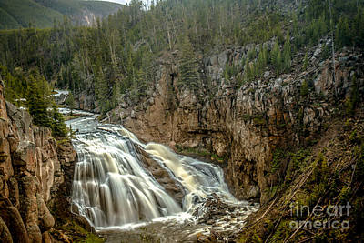 Photograph - Gibbon Falls by Robert Bales