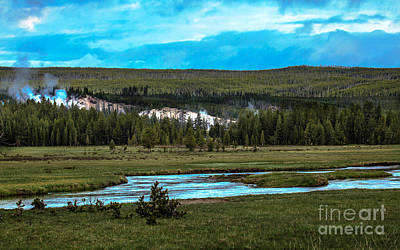 Photograph - Gibbon River Valley by Robert Bales
