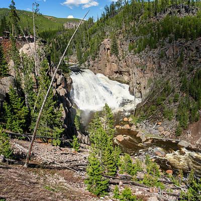 Photograph - Gibbons Falls Yellowstone Np_grk7601_05262018-hdr by Greg Kluempers