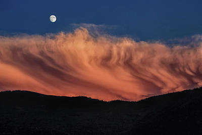 Photograph - Gibbous Moon With Sunset Storm Clouds by Donna Kennedy