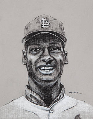 St. Louis Cardinals Drawing - Gibby by Jim Wetherington