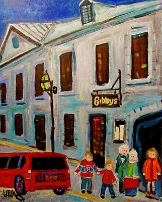 Painting - Gibby's Old Montreal by Michael Litvack