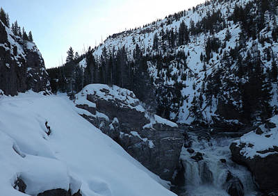 Photograph - Gibon Falls In Winter 2 by C Sitton