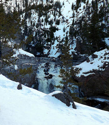 Photograph - Gibon Falls In Winter by C Sitton