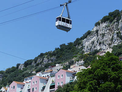 Photograph - Gibraltar Cable Car by Phil Banks