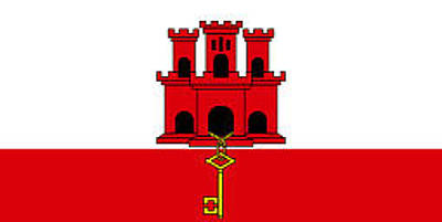 Digital Art - Gibraltar Flag by John Lowe