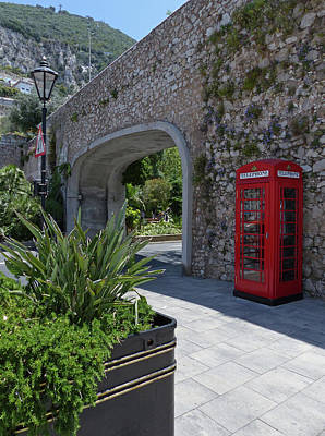 Photograph - Gibraltar - Phone Box At Referendum Gate by Phil Banks
