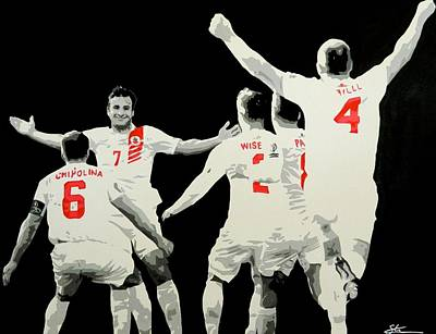 Gibraltar Score Against Scotland Art Print by Scott Strachan