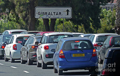 Photograph - Gibraltar - Traffic Queue by Phil Banks