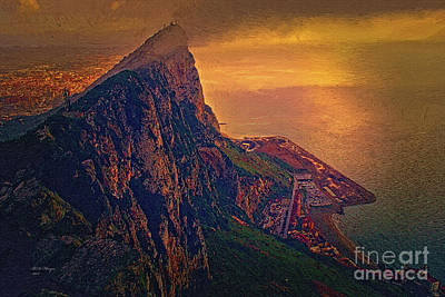 Digital Art - Gibraltar - The Upper Rock by Bill And Deb Hayes