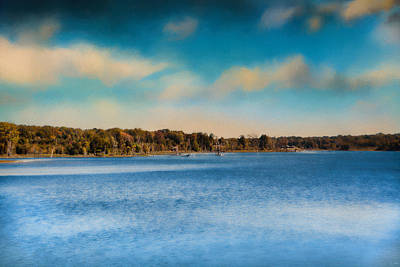 Photograph - Gibson County Lake In Fall by Jai Johnson