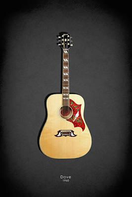 Acoustic Guitar Photograph - Gibson Dove 1960 by Mark Rogan