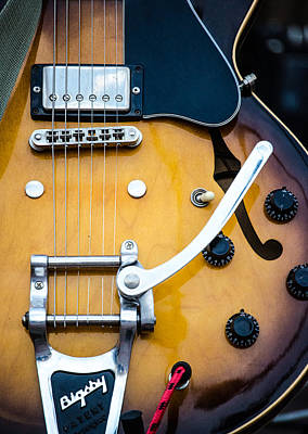 Photograph - Gibson Electric Guitar by Andrea Mazzocchetti
