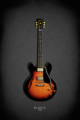 Guitar Photograph - Gibson Es 335 1959 by Mark Rogan