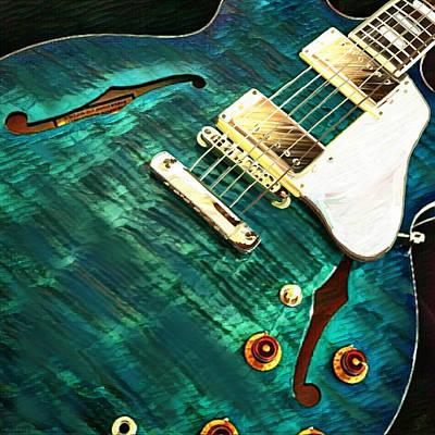 Mixed Media - Gibson Es-335 by Jen Gray