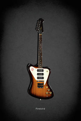 Gibson Firebird 1965 Art Print by Mark Rogan
