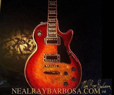 Painting - Gibson Les Paul by Neal Barbosa