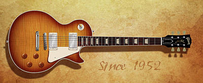 Digital Art - Gibson Les Paul Since 1952 by WB Johnston