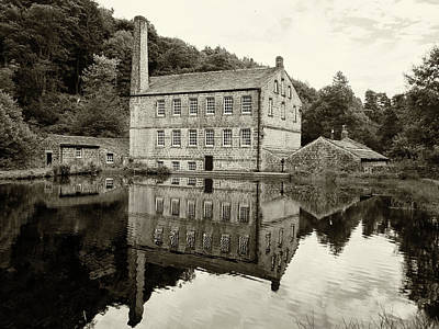 Gibson Mill - Hardcastle Crags - Vintage Art Print by Philip Openshaw