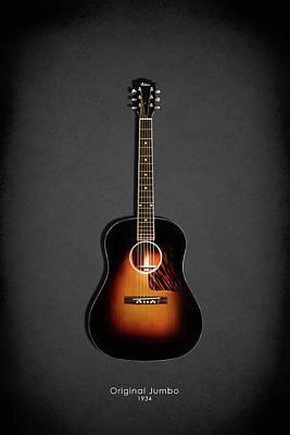 Electric Guitar Photograph - Gibson Original Jumbo 1934 by Mark Rogan