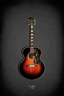 Photograph - Gibson Sj-200 1948 by Mark Rogan