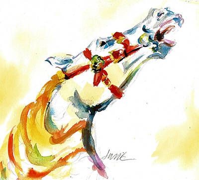 Painting - Giddy-up Carousel Horse Head Study by Jacki Kellum