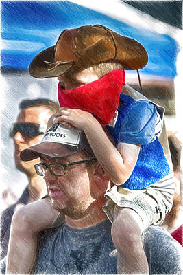 Digital Art - Giddyup Daddy by John Haldane