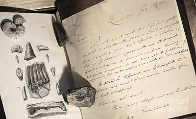 Mantell Photograph - Gideon Mantell Letter, Castle Place by Paul D. Stewart