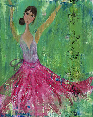 Dancer Mixed Media - Gidget Comes Alive by Laura K Aiken