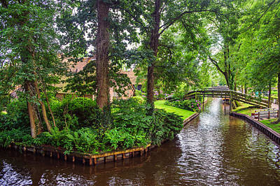 Photograph - Giethoorn Greenery And Bridges. Venice Of The North by Jenny Rainbow