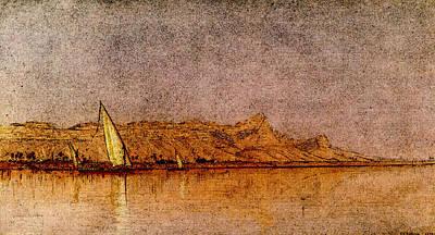 Digital Art - Gifford Sanford Robinson On The Nile Gebel Shekh Hereedee by Sanford Robinson Gifford