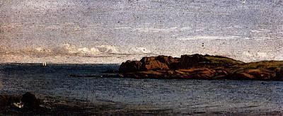 Digital Art - Gifford Sanford Robinson Study On The Massachusetts Coast by Sanford Robinson Gifford